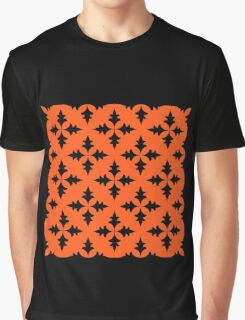 - Black leaves pattern - Graphic T-Shirt