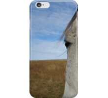 White Horse Face iPhone Case/Skin