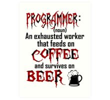 Programmer. Art Print
