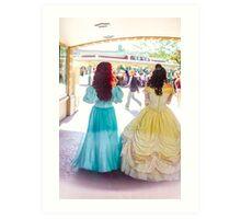 princess walks Art Print