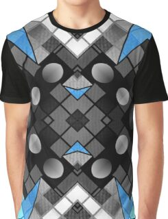 Blue Black Vector Abstract Pattern  Graphic T-Shirt