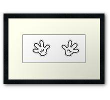 Naughty White Hands Framed Print