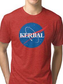 Kerbal Space Program NASA logo (large) Tri-blend T-Shirt