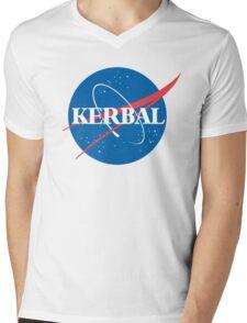 Kerbal Space Program NASA logo (large) Mens V-Neck T-Shirt