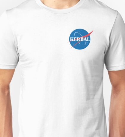 Kerbal Space Program NASA logo (small) Unisex T-Shirt