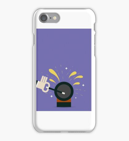 Magician with magical wand iPhone Case/Skin
