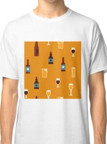 Craft beer glass and bottle icons Classic T-Shirt