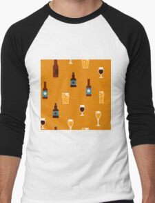 Craft beer glass and bottle icons Men's Baseball ¾ T-Shirt