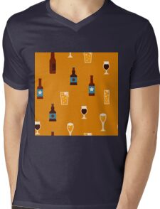 Craft beer glass and bottle icons Mens V-Neck T-Shirt