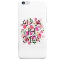 Flower Power Alpha Phi Omega iPhone Case/Skin