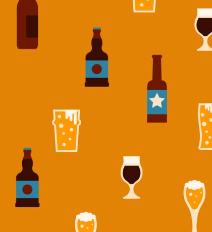 Craft beer glass and bottle icons Sticker