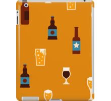Craft beer glass and bottle icons iPad Case/Skin