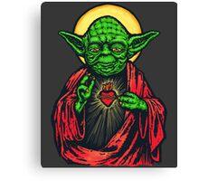 Holy Jedi Master Canvas Print