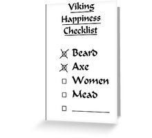 Viking Happiness Checklist Greeting Card