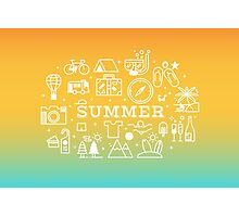 Summer concept line icons illustration Photographic Print