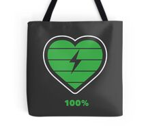 Fully charged heart Tote Bag