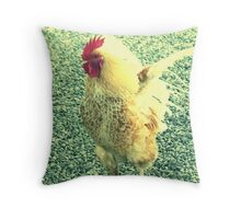 Retro Rooster Throw Pillow