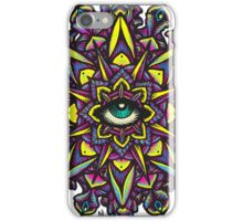 Dharma Wheel Neon Mandala iPhone Case/Skin