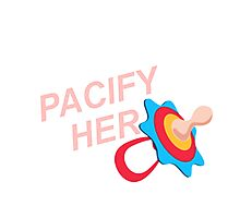 pacify her Photographic Print