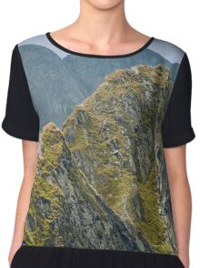 Mountain landscape Chiffon Top