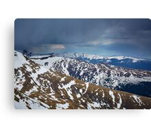 Mountain range in the spring Canvas Print