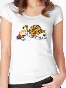 HIDE AND SEEK Women's Fitted Scoop T-Shirt