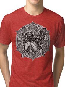 Frenchie Bulldog Mandala Tri-blend T-Shirt