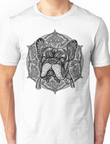 Frenchie Bulldog Mandala Unisex T-Shirt
