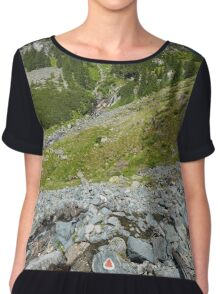 Mountains landscape in a sunny day Chiffon Top