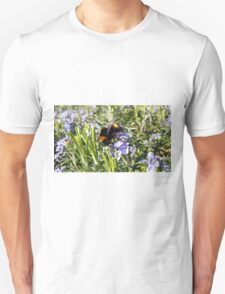 Busy Bee on Rosemary Flowers Unisex T-Shirt