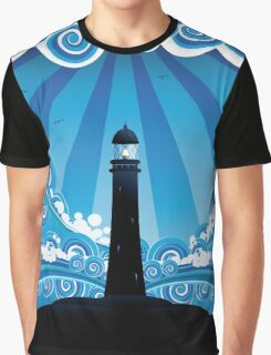 Lighthouse in the Sea 4 Graphic T-Shirt
