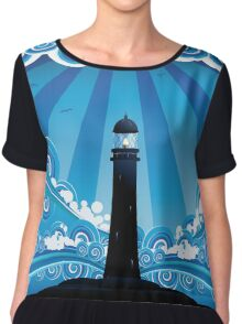 Lighthouse in the Sea 4 Chiffon Top