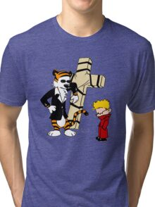 CROSS CALVIN & HOBBES Tri-blend T-Shirt