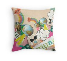 Collage Pop Throw Pillow