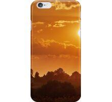 Village at sunset iPhone Case/Skin
