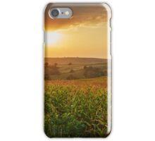 Corn field at sunset iPhone Case/Skin
