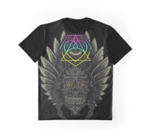 Winged Skull Scarab - Colors Graphic T-Shirt