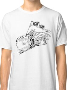 WORK HARD - Knight Riding a Vintage Circular Saw Classic T-Shirt