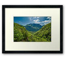 Mountain landscape on springtime Framed Print