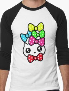 Ribbon Kitty Men's Baseball ¾ T-Shirt