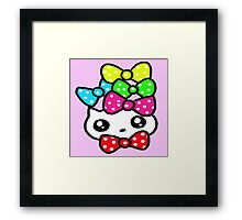 Ribbon Kitty Framed Print