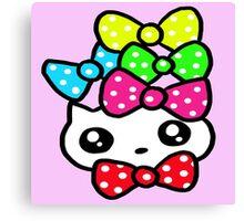 Ribbon Kitty Canvas Print
