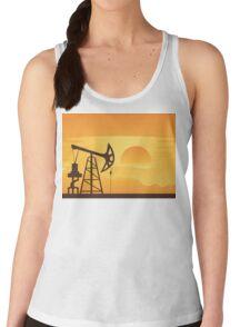 Oil Pump at Sunset Women's Tank Top