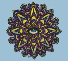 Dharma Wheel Neon Mandala Kids Clothes