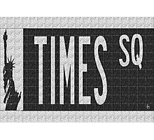 Times Square New York City Street Sign Deco Swing Photographic Print