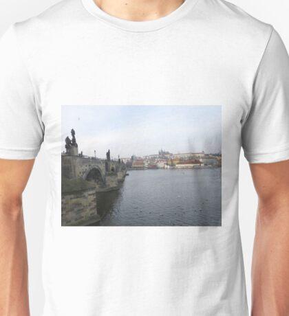 Famous Charles Bridge & Castle in Prague, Czech Republic Unisex T-Shirt