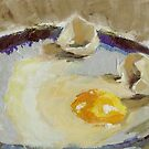 Egg on Plate by Jaana Day