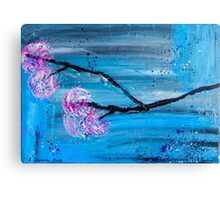 Asymmetry In Nature Abstract Floral Painting Canvas Print
