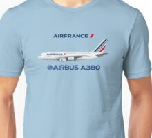 Illustration of Air France Airbus A380 - Blue Version Unisex T-Shirt