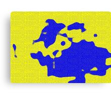 Abstract yellow blue Canvas Print